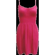 Ladies Seamless Fuchsia Smocking Waist Tunic Top - Tunic - $9.90
