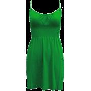 Ladies Seamless Kelly Green Smocking Waist Tunic Top - Tunic - $9.90
