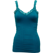 Ladies Teal Blue Lace Trimmed Tank Top - 上衣 - $9.50  ~ ¥63.65