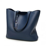Lady Women Light Weight Pu Leather Large Tote Handbag Open Top Purse Shoulder Diaper Bags - Bag - $25.99
