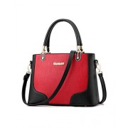 Lady Womens Fashion Spell Colors Wine Class Shape Top Handle Satchel Handbags Tote Purse Shoulder Bags - Bag - $29.99