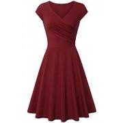 Laksmi Elegant Dresses, Womens Casual Dress A Line Cap Sleeve V Neck - Dresses - $13.00