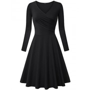 Laksmi Women's Long Sleeve Elegant Vintage A Line Dress - Dresses - $30.99