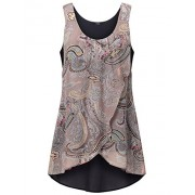 Laksmi Womens Summer Sleeveless Tunics Double Layer Casual Tanks - Tunic - $49.99