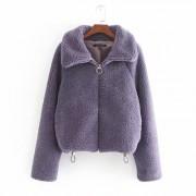 Lapel casual loose lamb hair warm short - Jakne i kaputi - $39.99  ~ 254,04kn