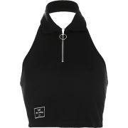 Lapel zipper leaking navel casual temper - Shirts - $27.99