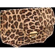 Lauren Merkin Blair Leopard Clutch Camel/Gold - Clutch bags - $495.00