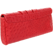 Lauren Merkin Caroline Calfskin Clutch Red - Clutch bags - $250.25