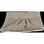 Lauren Merkin Eve Women's Leather Clutch (Grey Glossy Python) - Clutch bags - $200.00
