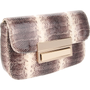 Lauren Merkin Iris Clutch Brown/White - Clutch bags - $359.45