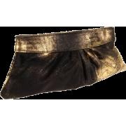 Lauren Merkin Louise Clutch Black/Gold - Clutch bags - $325.00