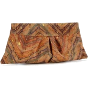 Lauren Merkin Louise Women's Leather Clutch (Chevron Cork) - Clutch bags - $200.00