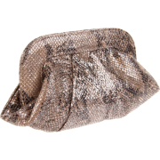 Lauren Merkin Lucy Cobra Clutch Natural/Black - Clutch bags - $250.00