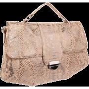Lauren Merkin Marlow Python Satchel Beige/Pewter - Bag - $327.61
