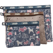 LeSportsac 3 Pack Of Cosmetic Case Bow Wow/Multi - Bag - $42.00