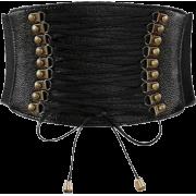 Leather Corset Lacing Belt Girdle - Belt -