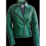Leather Skin Green Brando Women Genuine - Chaquetas - $189.99  ~ 163.18€