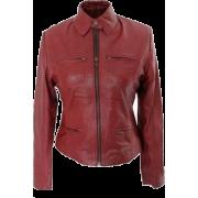 Leather Skin Women Maroon Premium Genui - Chaquetas - $179.99  ~ 154.59€