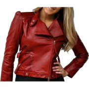 Leather Skin Women Maroon Red Genuine Re - People -