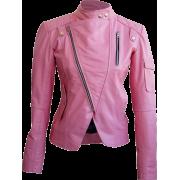 Leather Skin Women Pink Brando Genuine L - Chaquetas - $189.99  ~ 163.18€