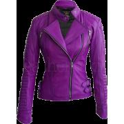 Leather Skin Women Purple Brando Padded - Chaquetas - $189.99  ~ 163.18€