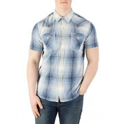 Levi's Men's Barstow Western Shortsleeved Shirt, Blue - Shoes - $53.95