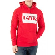 Levi's Men's Graphic Pullover Hoodie, Red - Shoes - $59.95