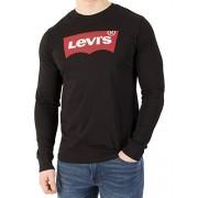 Levi's Men's Longsleeved Graphic T-Shirt, Black - Shoes - $41.95