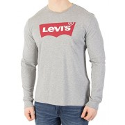 Levi's Men's Longsleeved Graphic T-Shirt, Grey - Shoes - $41.95