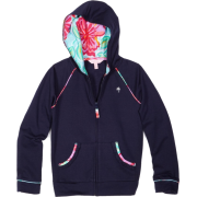 Lilly Pulitzer Girls 2-6X Brigit Solid Hoodie True Navy - Jacket - coats - $68.00