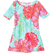 Lilly Pulitzer Girls 2-6X Little Cassie Knit Dress Shore Blue Bellina - Dresses - $58.00