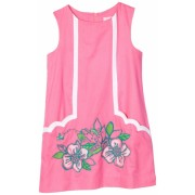 Lilly Pulitzer Girls 2-6X Little Lilly Novelty Shift Dress Hotty Pink Skip On It - Dresses - $88.00