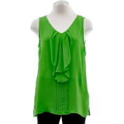 Lilly Pulitzer Harbor Club Green Silk Ruffle Eliza Top - Top - $64.99