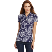 Lilly Pulitzer Women's Trophy Polo Bright Navy Bella - Shirts - $29.23