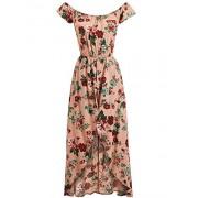 Lock and Love WRJ1602 Womens Floral Printed Off Shoulder Romper/Jumpsuit Dress - Hlače - dolge - $34.21  ~ 29.38€