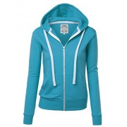 Lock and Love Women's Active Casual Zip-up Hoodie Jacket Long Sleeve Comfortable Lightweight Sweatshirt - Camisas - $24.95  ~ 21.43€