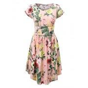 Lock and Love Womens Print Short Sleeve Shirring Dress-Made by Johnny - Obleke - $25.64  ~ 22.02€