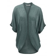 Lock and Love Womens Short Sleeve Open-Front Batwing Cardigan - Made in USA - Shirts - $27.07