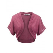 Lock and Love Women's Versatile Open Front Lightweight Short Sleeve Bolero Shrug - Camisas - $16.95  ~ 14.56€