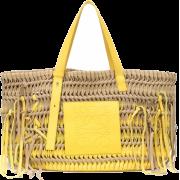 Loewe Anagram woven suede tote - Hand bag -