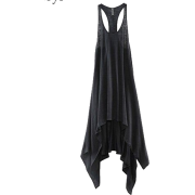Long and Loose Flowy Gray Tank - Tanks -