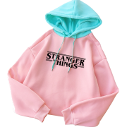 Loose hooded pullover print letter sweat - Pullovers - $25.99
