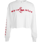 Loose letter sexy navel sweater - Pullovers - $17.99