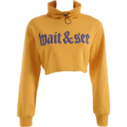 Loose stand collar long-sleeved street j - Pullovers - $25.99