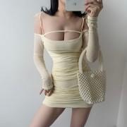 Low-cut strapless strapless strapless fringed irregular temperament waist slimmi - Obleke - $28.99  ~ 24.90€