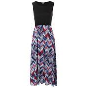 LuckyMore Women Boho Chevron Striped Print Summer Sleeveless Tank Long Maxi Party Dress - Vestidos - $9.99  ~ 8.58€