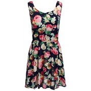 LuckyMore Womens Summer Casual Fit and Flare Floral Print Sleeveless Tank Dress - Dresses - $7.99
