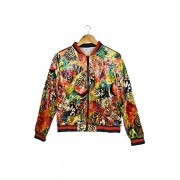 MANGO Women's Long Sleeve Velvet Floral Bomber Jacket,Medium,Red - Jacket - coats - $49.99