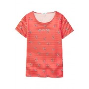 MANGO Women's Printed Logo T-Shirt, Red, S - Camisola - curta - $9.99  ~ 8.58€