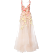 MARCHESA NOTTE flared dress with floral  - Dresses - $35.00